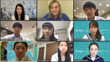 U.S. Olympian Ledecky hosts online STEM talk with Japanese students
