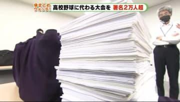 高校野球 独自大会求め10日間で署名2万5000人余 静岡