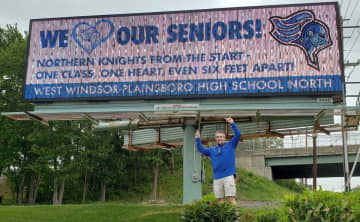 West Windsor North honors seniors with billboards on Route 1