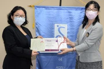 若松の粕谷さん日本北リジョン1位 女性のための教育・訓練賞