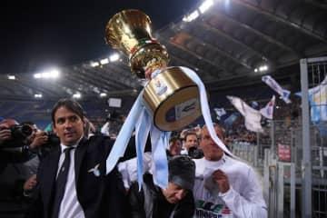 サッカー=イタリア杯、トロフィー授与は「セルフサービスで」