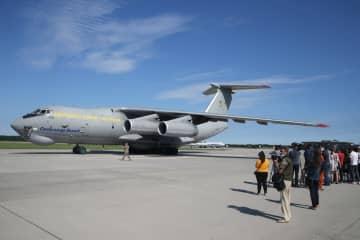 中国各界が寄贈した医療物資、キエフに到着