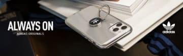 アディダス スマホリング、カードポケット、ハンドストラップ付きiPhoneケース