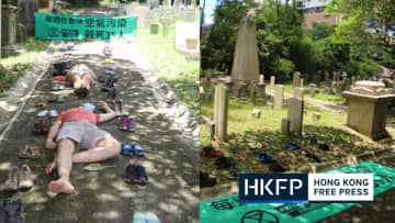 In Pictures: Extinction Rebellion stage graveyard 'die-in' to raise awareness of Hong Kong pollution deaths
