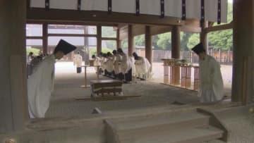 熱田神宮でけがれはらう「大祓」 コロナで神職と関係者のみ 名古屋
