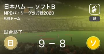 【NPBパ・リーグ公式戦ペナントレース】日本ハムがソフトBから勝利をもぎ取る