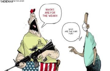 Masks are political now | Sheneman