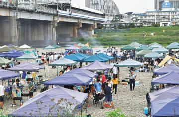 多摩川緑地BBQ広場 新ルール設け再開へ 入場、ピーク時3割以下に