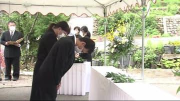「防災対策に万全を」 豪雨から3年 福岡県東峰村で追悼式