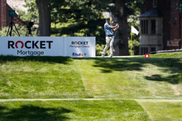 Detroit Will Breathe protesters make noise at Rocket Mortgage Classic