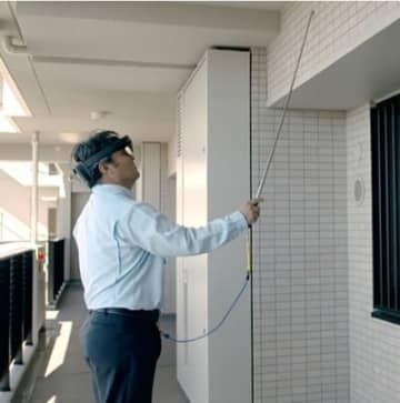 長谷工など、MR外壁タイル打診検査で日本マイクロソフトと連携 画像