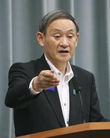 菅官房長官「緊急事態該当せず」 感染拡大防止と経済両立を強調 画像