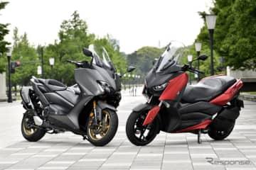 【ヤマハ TMAX560 & XMAX 比較試乗】便利なだけのスクーターとは一味違う!その実力とは…... 画像