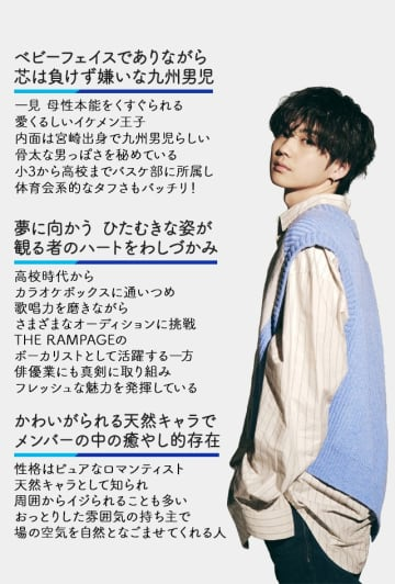 絶大な人気を誇るTHE RAMPAGEの吉野北人、映画初主演!