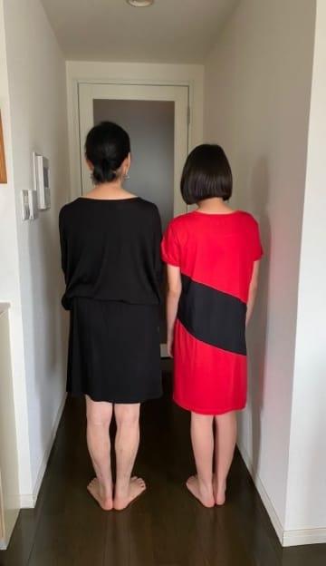 花田虎上、後ろ姿が似ている母親と娘「そっくり」「綺麗」の声