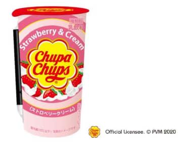 チュッパチャップスがドリンクに! 人気の「ストロベリークリーム」味をアレンジ