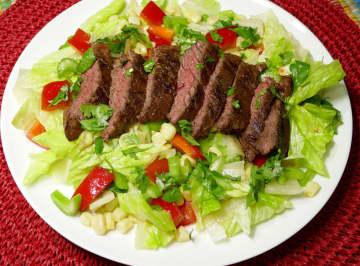 Spicy salad features jerk seasoning