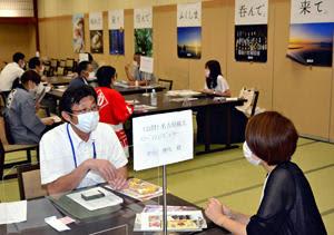 福島空港利用の旅行商品に向け商談会 旅行代理店など視察ツアー