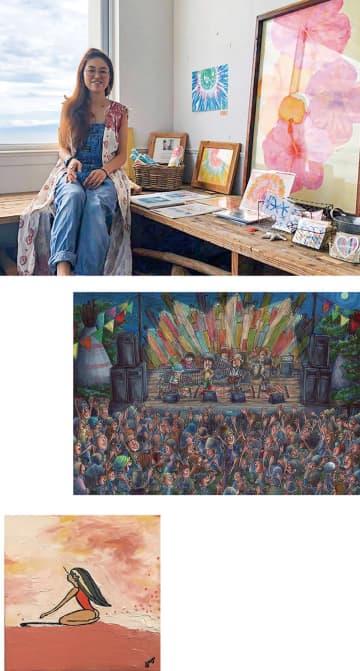 8月1日・2日 シンプルハウスでアート展 茅ヶ崎からも4人が参加