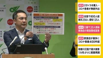 三重で20人感染 県独自の緊急警戒宣言 画像