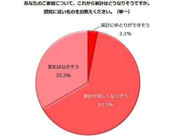 家計「苦しくなりそう」が63.5%、働く主婦層への調査で明らかに 画像