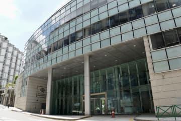 マカオ金融管理局ビル(資料)=2020年7月本紙撮影