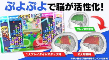 『ぷよぷよ』で脳が活性化されると判明! 対戦時はより顕著に