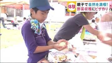 野菜の収穫にピザづくり 夏休みを親子で満喫 秋田