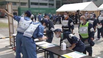 江東区でコロナ影響下を想定した避難所訓練 距離の確保など確認