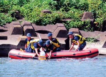 水難事故・災害に備え 13日、相模原署が訓練