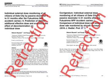 福島・伊達市住民被ばく論文の撤回がもたらしたもの