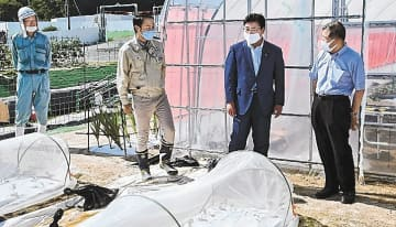 飯舘、浪江で復興状況確認 菅家復興副大臣が視察