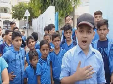11-year-old Gaza school boy goes viral for rapping skills