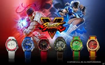 セイコー 5スポーツから「ストリートファイターV」のリュウや春麗たちをモチーフにした腕時計が登場!
