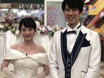 しゅんP、りぽぽとウエディング衣装でにっこり! 「ヘイヘイりぽぽ」で公開プロポーズ大成功