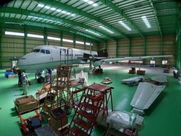 戦後日本復興の象徴「YS-11」 量産初号機の組み立て作業をネット配信