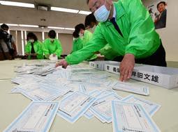 自民党総裁選、兵庫県連予備選は菅氏2票、石破氏1票獲得