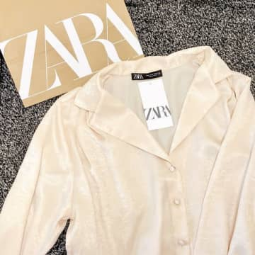 ZARAの「サテンシャツ」が上品すぎ…見つけた瞬間一目惚れした♡