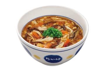 なか卯、人気中華を和風にアレンジした「酸辣湯うどん」発売