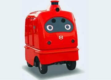 日本郵便/物流分野で日本初の配送ロボットの公道走行実証実験