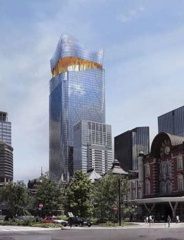 三菱地所が建設する、日本一の超高層ビル「トーチタワー」のイメージ