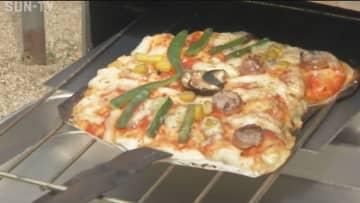 出張授業で小学生がピザ作り