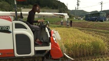 関西国際大の学生が稲刈りに挑戦 丹波市と教育や文化の発展などで協定