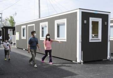 移動式仮設、岡山から球磨村に 他地域で初の再利用