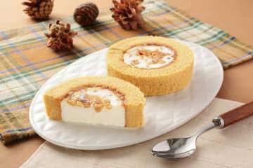 ローソン大人気ロールケーキに「メープルナッツ」! 絶対おいしやつ。食べなきゃ。 画像