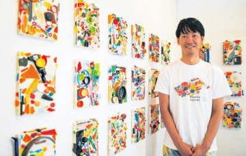 漂着プラがアートに「Plastic Planet 」藤沢市在住の米山幸助さんカフェで展示@LAMAspace