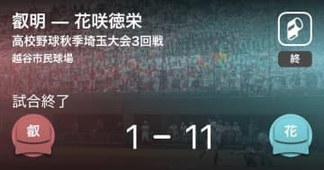 【高校野球秋季埼玉大会3回戦】花咲徳栄が叡明に大きく点差をつけて勝利