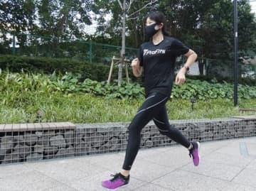対ウイルス加工付きランニング用マスク、ピップから