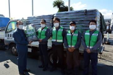 豪雨被災の大牟田市に八女特産「竹炭」を無償提供