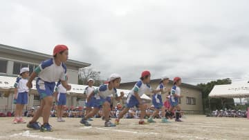 新型コロナ対策で2か所に分かれて実施 小学校で運動会 大分・大分市